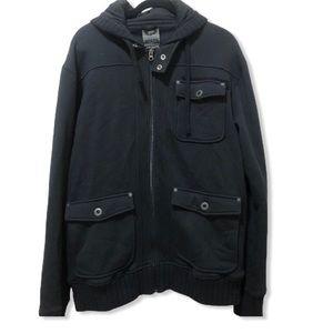 PrAna black hooded sweater jacket size XL